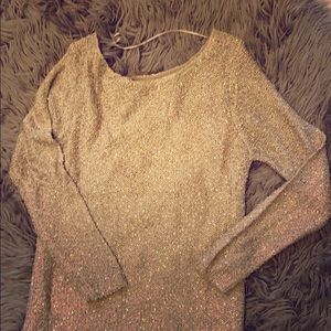 Apt.9 Gold Sweater size Large